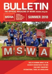 MSWA Bulletin Magazine Summer 2018