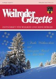 Weilroder Gazette Weihnachten/Januar/Februar 2019