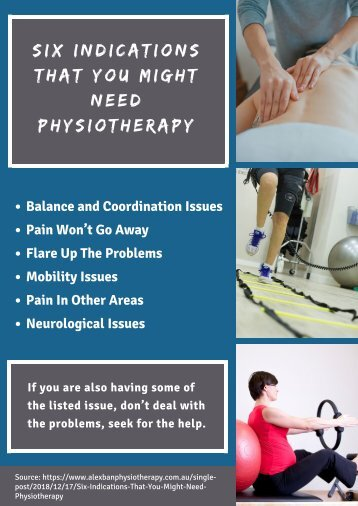 Six Indications That You Might Need Physiotherapy