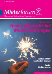Mieterforum Dortmund - Ausgabe IV/2018 (Nr. 54)