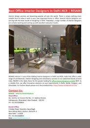 Best Office Interior Designers In Delhi-NCR-RESAIKI INTERIORS