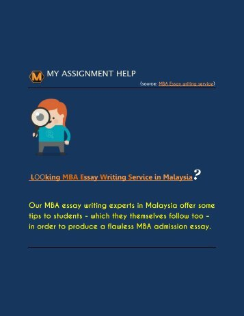 Need MBA Essay Writing Service Online?