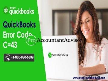 QuickBooks Desktop Error code C= 43 - How to Fix It