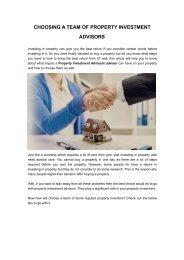 Property Investment Advisors