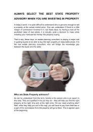 State Property Advisory