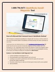 1-800-796-0471 QuickBooks Install Diagnostic Tool - Fix .Net Framework, Microsoft Issue