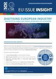 DIGITISING EUROPEAN INDUSTRY EU ISSUE INSIGHT