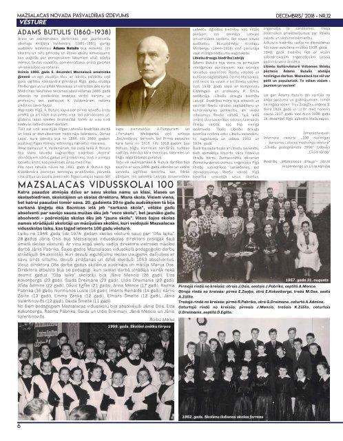 Mazsalacas novada ziņas Decembris 2018