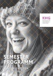 Programm Wintersemester 2018-2019 Katholische Hochschulgemeinde (KHG) Frankfurt