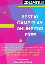 The Best io Game Play Online for Free - Iogames.at