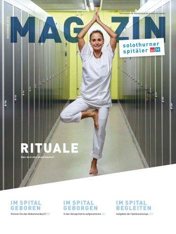 Magazin Mitarbeitende Solothurner Spitäler 3/18 - Rituale