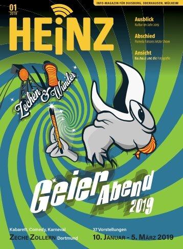 01-2019 HEINZ MAGAZIN Duisburg, Oberhausen, Mülheim