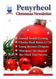 Christmas Newsletter 2018