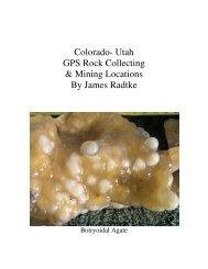 Colorado Utah GPS Rock Mine   Locations
