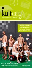 Das kulturig Programm 2018/2019 (Flyer)