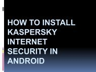 How to Activate Kaspersky Internet Security?