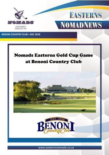 Nomads Magazine - Benoni CC - Dec 2018