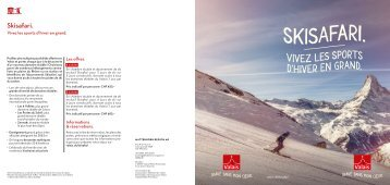 Skisafari - Vivez les sports d'hiver en grand !