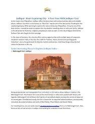 Jodhpur- Heart Capturing City-  A Taxi Tour With Jodhpur Taxi