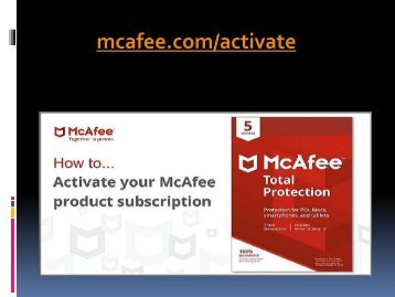 mcafee.com/activate - Antivirus and Security System