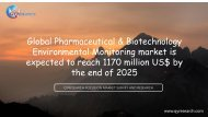 Global Pharmaceutical & Biotechnology Environmental Monitoring market is expected to reach 1170 million US$ by the end of 2025