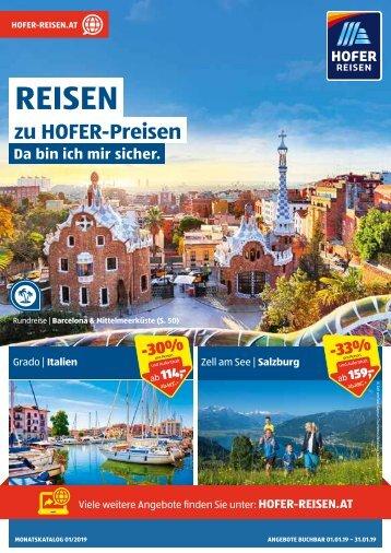 HOFER REISEN Monatskatalog Jänner 2019