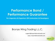 Apply Performance Bond – Performance Bond Process