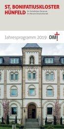 St. Bonifatiuskloster - Jahresprogramm 2019
