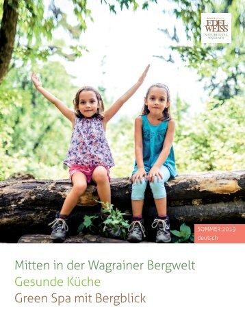 Sommerprospekt Edelweiss Naturhotel Wagrain