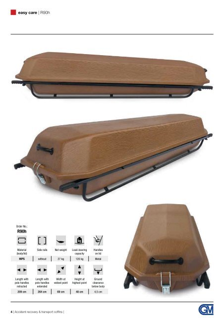 GM transport coffins and body recovery cases for funeral