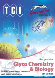 Tokyo Chemical Industiees (TCI) Reagents For Glyco Chemistry Biolog - 5th Edition