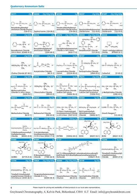 Tokyo Chemical Industries (TCI) - Quaternary Ammonium Salts