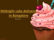How to make your special day even more special Try Midnight Cake Delivery in Bangalore