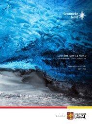 Sentinelle Nord - Rapport d'activités 2017-2018