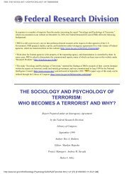 The Sociology And Psychology Of - Who Becomes A Terrorist