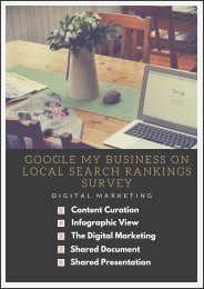 GOOGLE MY BUSINESS ON LOCAL SEARCH RANKINGS SURVEY