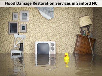 Flood Damage Restoration Services in Sanford NC