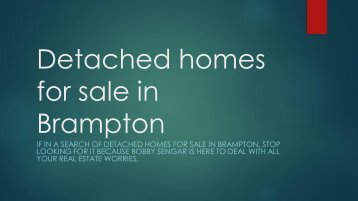 detached homes for sale in Brampton
