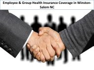 Employee & Group Health Insurance Coverage in Winston-Salem NC