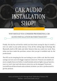Why Should You Consider Professional Car Audio Installation Rather Than DIY-converted