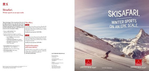 Skisafari - Winter sports on an epic scale !