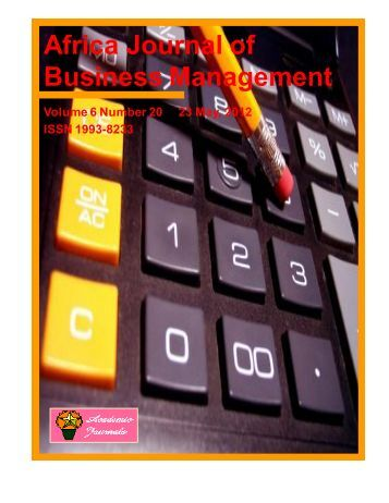 23 May, 2012 Issue - Academic Journals