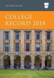 College Record 2018