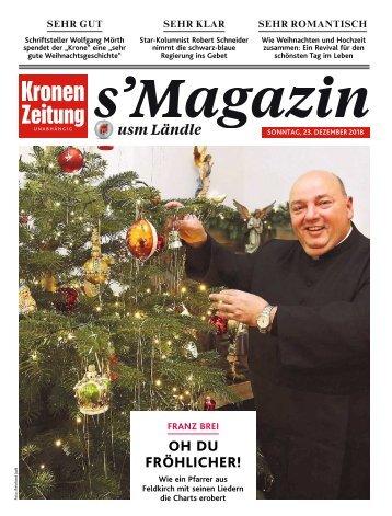 s'Magazin usm Ländle, 23. Dezember 2018