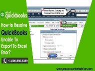 What is the Causes of QuickBooks Unable to Export to Excel Error