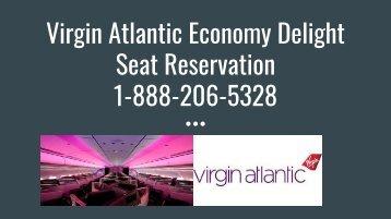 Virgin Atlantic Economy Delight Seat Reservation 1-888-206-5328