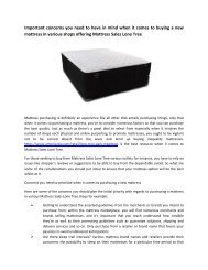 Important concerns you need to have in mind when it comes to buying a new mattress in various shops offering Mattress Sales Lone Tree-converted