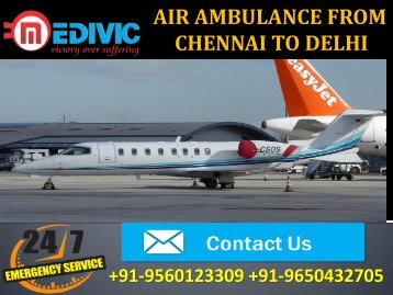 Air Ambulance from Chennai to Delhi