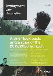 Employment Law newsletter - Jan 2019
