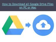 How to Download all Google Drive Files on PC or Mac